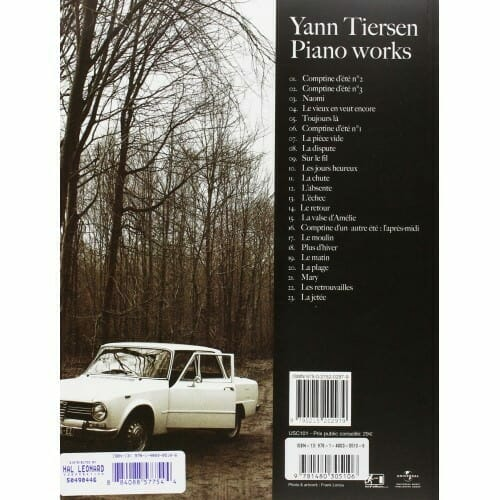 Yann Tiersen piano BACK cover