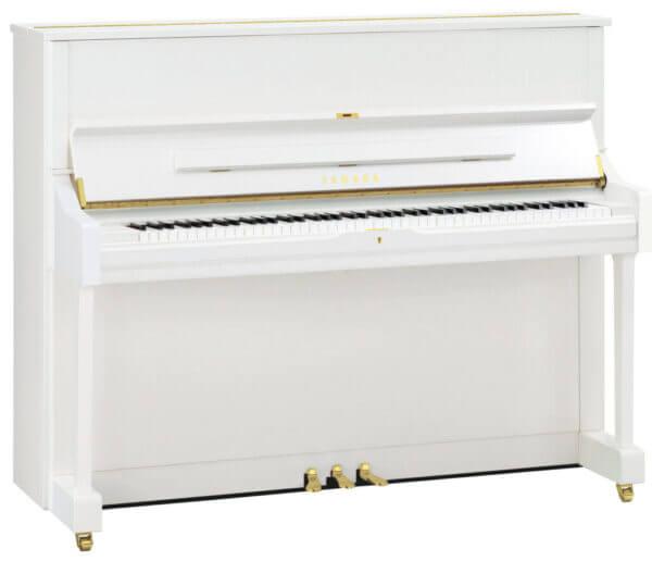 Yamaha U1 Polished White Piano